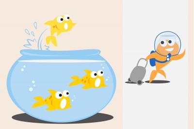 100129952 Goldfish Walk Out Of Tank by bplanet